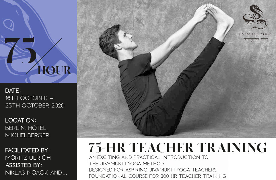 75 Stunden Jivamukti Yoga Teacher Training